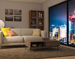 Pokój wypoczynkowy - Mały szary salon, styl klasyczny - zdjęcie od 3d@piotrwachulec.pl - Homebook