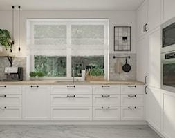 Dom w Radomiu - Średnia zamknięta szara kuchnia w kształcie litery u z oknem, styl skandynawski - zdjęcie od UNIQUE INTERIOR DESIGN