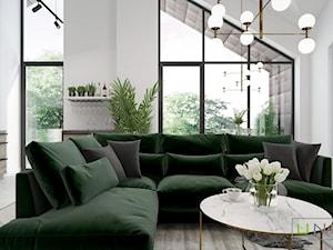 Mieszkanie w Łodzi - Salon, styl art deco - zdjęcie od UNIQUE INTERIOR DESIGN