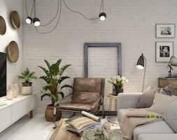 Mieszkanie - Średni szary salon, styl skandynawski - zdjęcie od UNIQUE INTERIOR DESIGN