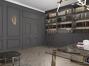 mieszkanie w Kamienicy - Średnie czarne biuro domowe w pokoju, styl klasyczny - zdjęcie od UNIQUE INTERIOR DESIGN