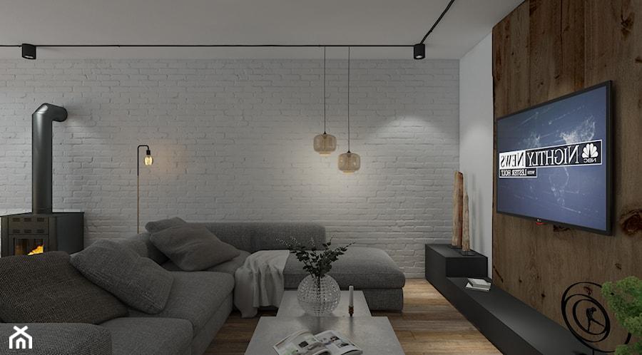 Aranżacje wnętrz - Salon: Przebudowa domu - Mały biały brązowy salon, styl industrialny - UNIQUE INTERIOR DESIGN. Przeglądaj, dodawaj i zapisuj najlepsze zdjęcia, pomysły i inspiracje designerskie. W bazie mamy już prawie milion fotografii!