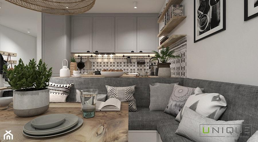 Mieszkanie z elementami w stylu BOHO - Jadalnia, styl skandynawski - zdjęcie od UNIQUE INTERIOR DESIGN