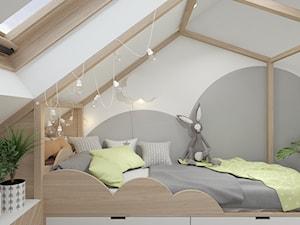 Dom z elementami stylu kolonialnego - Mały biały szary pokój dziecka dla chłopca dla dziewczynki dla ucznia dla nastolatka - zdjęcie od UNIQUE INTERIOR DESIGN