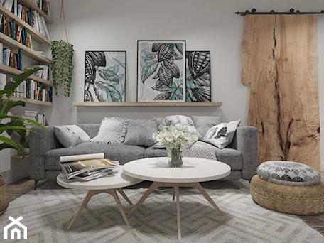 Aranżacje wnętrz - Salon: Mieszkanie z elementami w stylu BOHO - Średni szary biały salon, styl skandynawski - UNIQUE INTERIOR DESIGN. Przeglądaj, dodawaj i zapisuj najlepsze zdjęcia, pomysły i inspiracje designerskie. W bazie mamy już prawie milion fotografii!