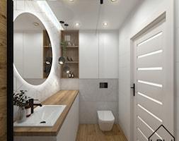 Białe romby w łazience - Łazienka, styl nowoczesny - zdjęcie od KRU design - Homebook