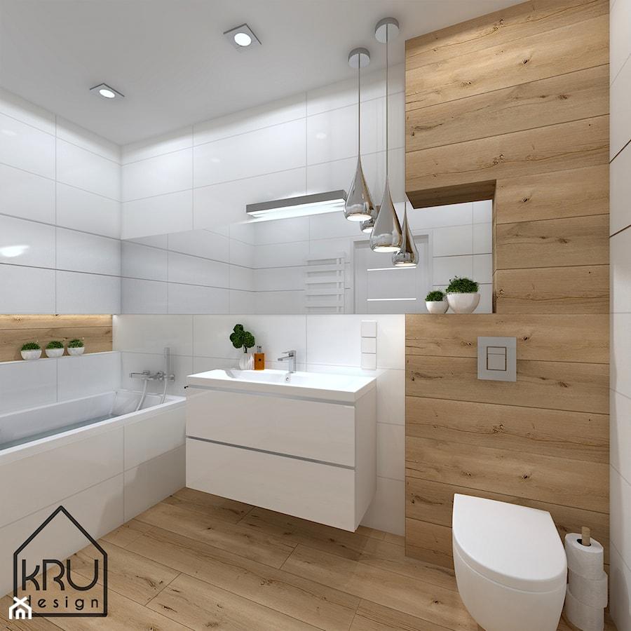 Biała łazienka Styl Nowoczesny średnia Biała łazienka W