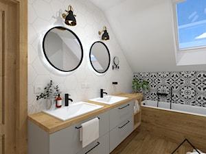 Hexagon & patchwork w łazience