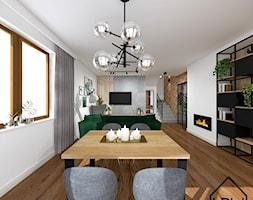 Salon z ukrytą garderobą - Jadalnia, styl nowoczesny - zdjęcie od KRU design - Homebook