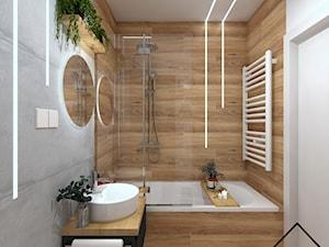 Łazienka z oświetleniem liniowym