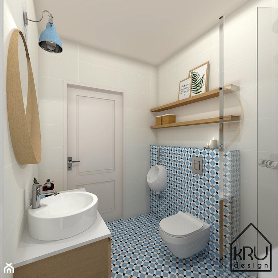 Niebieska łazienka Przy Sypialni Głównej Mała łazienka W