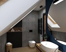 Łazienka w akcentem granatu - Łazienka, styl nowoczesny - zdjęcie od KRU design - Homebook