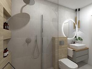 Minimalistyczna łazienka gościnna