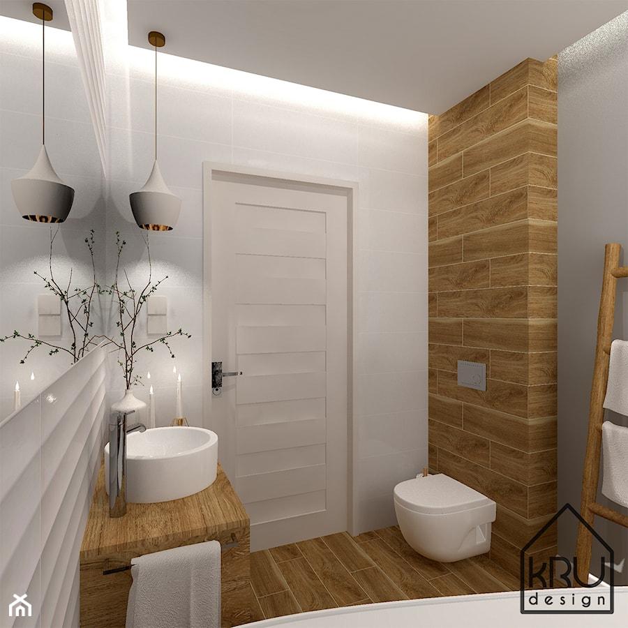 Aranżacje wnętrz - Łazienka: Łazienka z wanną wolnostojącą - KRU design . Przeglądaj, dodawaj i zapisuj najlepsze zdjęcia, pomysły i inspiracje designerskie. W bazie mamy już prawie milion fotografii!