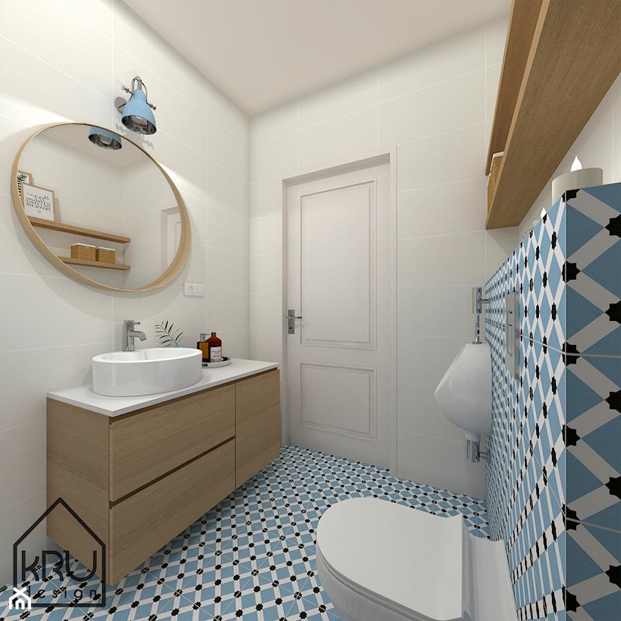 Niebieska łazienka Przy Sypialni Głównej średnia Kolorowa