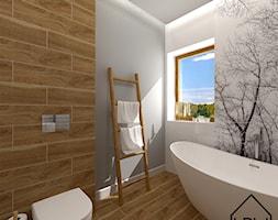 Łazienka z wanną wolnostojącą - zdjęcie od KRU design