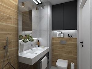 Nowoczesna łazienka w kawalerce