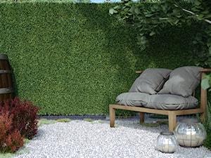 Mały ogród za domem w stylu skandynawskim, styl włoski - zdjęcie od domondo.pl