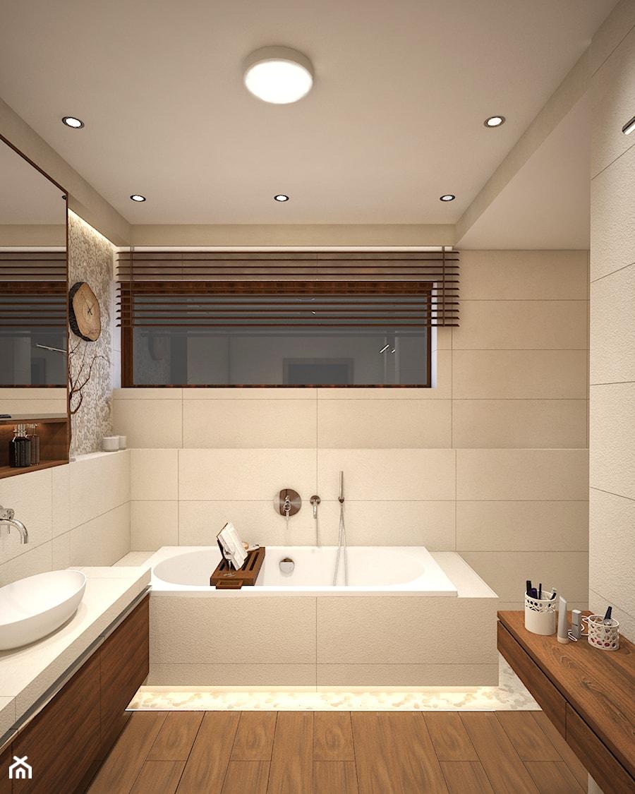 Wnętrza domu jednorodzinnego - styl rustykalny - Łazienka, styl skandynawski - zdjęcie od Taki Projekt