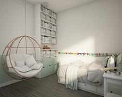 Dom w Marysinie k. Lublina - Mały biały zielony pokój dziecka dla chłopca dla dziewczynki dla malucha - zdjęcie od CZYSTA FORMA