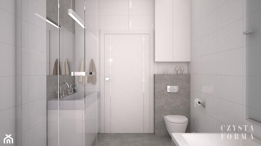 Biało Szara łazienka Zdjęcie Od Czysta Forma Homebook