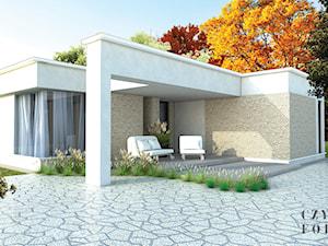 Biały dom o nowoczesnej bryle