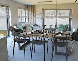 Open space: salon, jadalnia, kuchnia - zdjęcie od CZYSTA FORMA