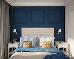 Nowojorski apartament w Lublinie - Średnia biała niebieska sypialnia małżeńska, styl nowojorski - zdjęcie od CZYSTA FORMA - Homebook