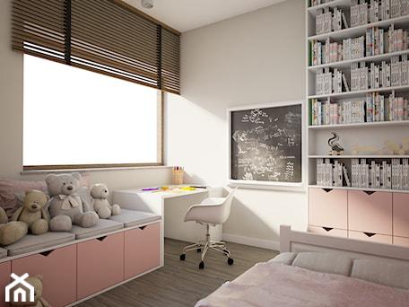 Dom w Marysinie k. Lublina - Mały szary pokój dziecka dla dziewczynki dla malucha - zdjęcie od CZYSTA FORMA
