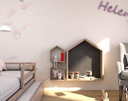 Dom pod Włodawą - Mały biały pokój dziecka dla dziewczynki dla malucha - zdjęcie od CZYSTA FORMA
