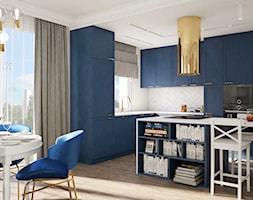 Nowojorski apartament w Lublinie - Średnia otwarta biała jadalnia w kuchni, styl nowojorski - zdjęcie od CZYSTA FORMA