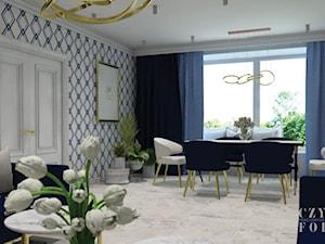 Granatowy salon
