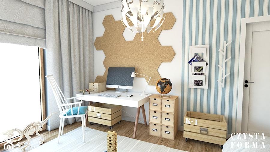 Aranżacje wnętrz - Pokój dziecka: Dom w stylu Modern Farmhouse w Lublinie - Mały biały niebieski pokój dziecka dla chłopca dla dziewczynki dla ucznia dla nastolatka - CZYSTA FORMA. Przeglądaj, dodawaj i zapisuj najlepsze zdjęcia, pomysły i inspiracje designerskie. W bazie mamy już prawie milion fotografii!
