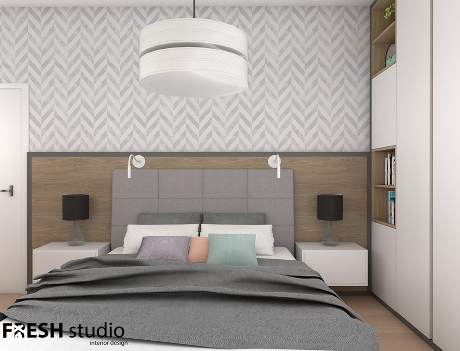 sypialnia nowoczesna FRESHstudio - zdjęcie od FRESHstudio