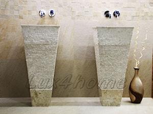 Wolnostojąca umywalka z kamienia - marmur CRL142