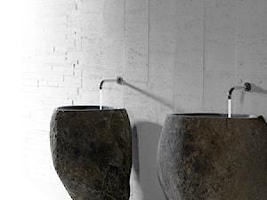 Wolno stojące umywalki z kamienia polnego