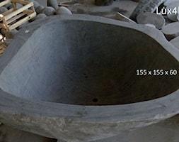 Kamienna wanna wolnostojąca - wanna z kamienia naturalnego / polnego - zdjęcie od Lux4home™ - Homebook