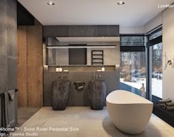 Kamienne umywalki z naturalnego kamienia polnego - rzecznego - zdjęcie od Lux4home™ - Homebook