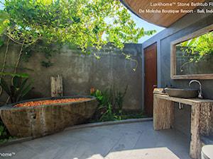 Kamienna wanna w hotelu / SPA - wanny z kamienia naturalnego - zdjęcie od Lux4home™