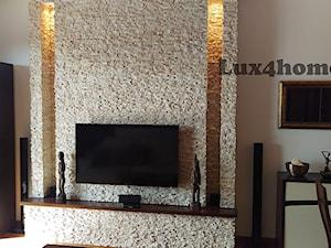Łupek kamienny z marmuru na ściany w salonie