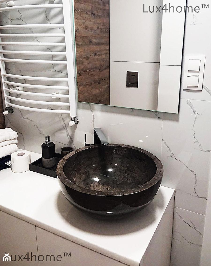 Czarne Umywalki Z Kamienia Na Blat Do łazienki Zdjęcie Od