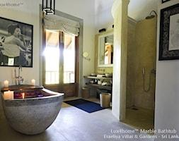 Wolnostojąca wanna z marmuru. Wanna z kamienia marmur grafit - zdjęcie od Lux4home™