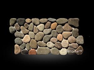 Brązowe otoczaki na siatce - Mozaiki z otoczaków