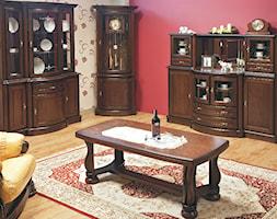 KOLEKCJA ATENA - Mały szary czerwony salon, styl klasyczny - zdjęcie od TC MEBLE