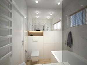 Apartament - Średnia biała łazienka w bloku w domu jednorodzinnym bez okna - zdjęcie od byMadeline