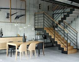 LOFT U - Jadalnia, styl industrialny - zdjęcie od Szkic Design - Projektowanie wnętrz - Homebook