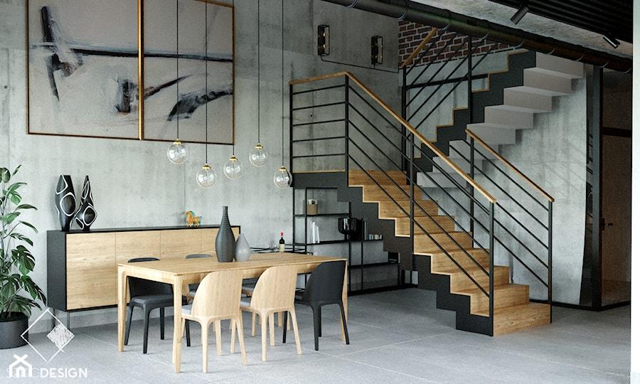 LOFT U - Jadalnia, styl industrialny - zdjęcie od Szkic Design - Projektowanie wnętrz