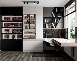 Mieszkanie w Piasecznie - Biuro, styl nowoczesny - zdjęcie od Szkic Design - Projektowanie wnętrz - Homebook