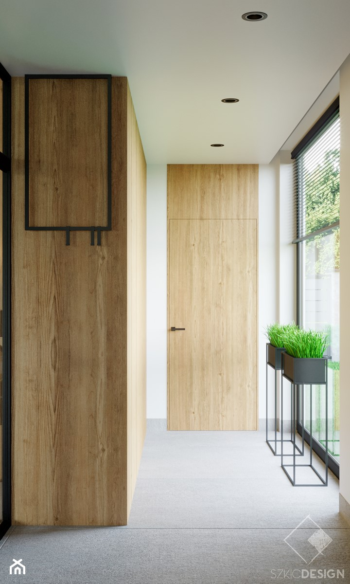 LOFT U - Hol / przedpokój, styl industrialny - zdjęcie od Szkic Design - Projektowanie wnętrz