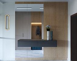 Dom w Grabinie - Hol / przedpokój, styl minimalistyczny - zdjęcie od Szkic Design - Projektowanie wnętrz - Homebook